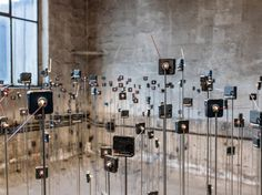schunck + dölker explore time through a giant array of quartz clock movements Blood In Water, Sound Installation, Quartz Clock Movements, Sculpture, Photo Wall, Dots, Explore, Frame, Contemporary Art