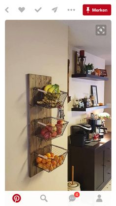 47 Small Kitchen Decor Ideas On a Budget to Maximize Existing the Space ~ grandes.site 47 Small Kitchen Decor Ideas On a Budget to Maximize Existing the Space ~ grandes. Kitchen Organization, Kitchen Storage, Organization Ideas, Organized Kitchen, Diy Kitchen Shelves, Kitchen Baskets, Living Room Shelves, Organizing Life, Home And Deco