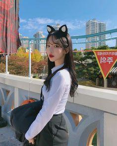 Aesthetic Asian Girls Photo Part 6 - Visit to See More - AsianGram Korean Beauty Girls, Pretty Korean Girls, Korean Girl Fashion, Cute Korean Girl, Pretty Asian, Beautiful Asian Girls, Asian Beauty, Korean Student, Mode Kpop
