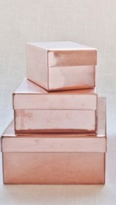 Rose Gold Metallic Boxes www.MadamPaloozaEmporium.com www.facebook.com/MadamPalooza