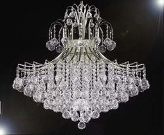 """French Empire Empress Crystal (Tm) Chandelier Lighting H30"""" X W24"""" - A93-Silver/876/9"""