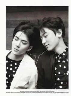 Sehun and Chanyeol ceci