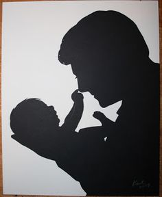 Original Silhouettes by Silhouette Artist Karl Johnson of Cutarts.com: Father's Day Silhouettes