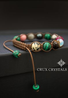 Virgin Forest // Women's Shamballa Bracelet by CruxCrystals Hemp Jewelry, Beaded Jewelry, Handmade Jewelry, Bff Bracelets, Gemstone Bracelets, Purple Agate, How To Make Necklaces, Gemstones, Paracord