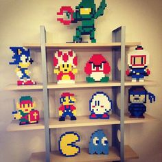 On instagram by trytuningthat #8bits #microhobbit (o) http://ift.tt/1Oz4lEx 8-bit Lego computer game characters. Particularly proud of Master Chief in a Bomberman pose.  #Lego #8bit  #gamer