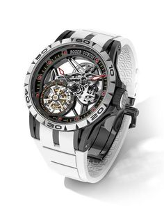 9079dedef12 New Roger Dubuis Excalibur Spider Limited Edition with White Rubber Strap
