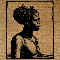 African American Portrait Drawing Africa Portrait by Graphique, $1.00