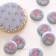 """11.8k Likes, 82 Comments - SweetAmbs - Amber Spiegel (@sweetambs) on Instagram: """"The wet-on-wet royal icing rose is one of many cookie decorating techniques in my new book! Order…"""""""