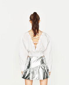 Imagem 2 de BLUSA FRANZIDO INFERIOR da Zara