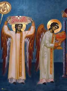 The Archangels in the Divine Liturgy - Orthodox Christian icon