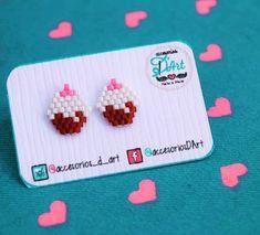 Hama Beads Patterns, Beaded Jewelry Patterns, Peyote Patterns, Beading Patterns, Craft Accessories, Beaded Animals, Seed Bead Jewelry, Brick Stitch, Beading Tutorials