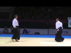 Aikido. Demonstration Christian Tissier Shihan at the World Combat Games 2013