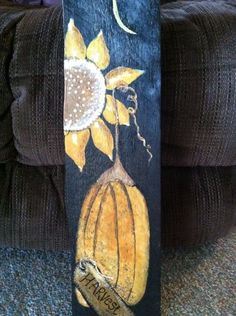 Sunflower sign I painted on wood