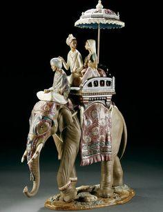 Lladro indian elephant