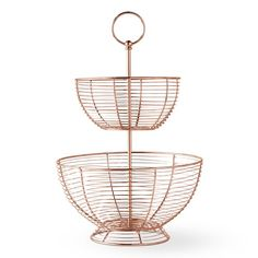 Shop copper wire fruit basket from Williams Sonoma. Our expertly crafted collections offer a wide of range of cooking tools and kitchen appliances, including a variety of copper wire fruit basket. Fruits And Vegetables List, Variety Of Fruits, Fruit And Veg, Fresh Fruit, Wire Basket Shelves, Metal Baskets, Storage Baskets, Wire Fruit Basket, Fruits Basket