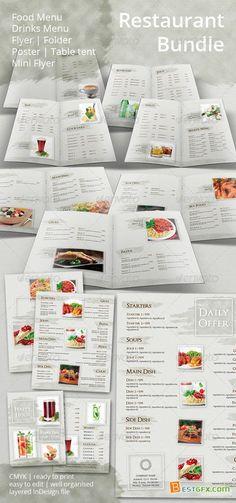 GraphicRiver - Restaurant Menu and Promotional Set Bundle