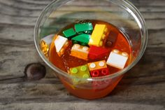 Minute to win it! Dig out lego pieces in jello using chopsticks!