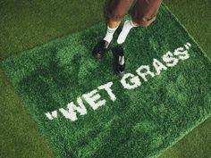 Wet Grass Off White Ikea Rug Markerad Virgil Abloh Ikea Portugal, Off White Designer, Ikea Rug, Photo Deco, Virgil Abloh, Long Rug, Glass Cabinet Doors, Modern Area Rugs