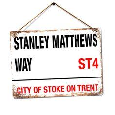WTF   Stanley Matthews Way   Metal Wall Sign Plaque Art   Stoke On Trent City    eBay