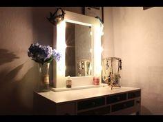 DIY: Гримерное зеркало с подсветкой своими руками(зеркало визажиста)