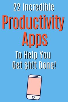 The top productivity apps to help you get organized, stay focused, and finally get stuff done! Learn about the best productivity apps to help you achieve