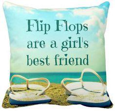 Flip Flops Quote Pillow: http://www.completely-coastal.com/2015/06/flip-flop-home-decor.html