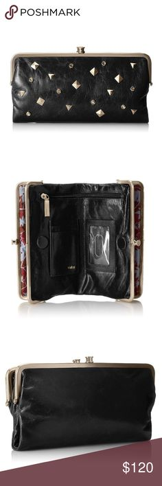 🎁🆕 HOBO Lauren Studded leather Wallet Say hello to you next wallet and great clutch for a night out. Beautiful soft black leather with fabulous studded design. HOBO Bags Wallets