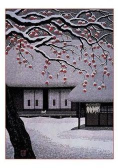 Kazuyuki Ohtsu, Japanese woodblock printer. Beautiful work: