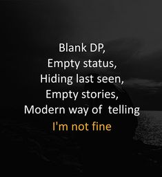 I'm not fine. Hurt Quotes, Girly Quotes, Strong Quotes, Sad Quotes, Love Quotes, Inspirational Quotes, Qoutes, Random Quotes, Motivational