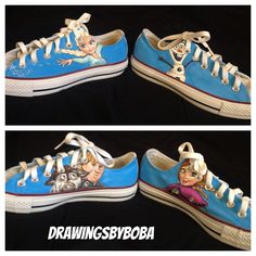 Hand Painted Disney's Frozen Converse on Etsy, $130.00