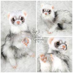 Fel the Lucky Ferret - Poseable Creature Art Doll by RikerCreatures.deviantart.com on @DeviantArt