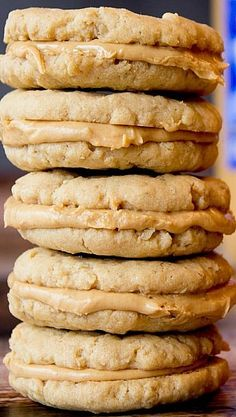 Peanut Butter Oatmeal Sandwich Cookies - doctored down they could be a 'clean' treat!