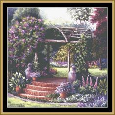 English Garden Collection - English Garden I [BF-84] - $16.00 : Mystic Stitch Inc, The fine art of counted cross stitch patterns