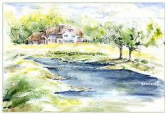 Aquarelle - Landschaft - fillesansnoms Webseite!