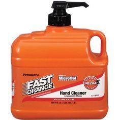 Fast Orange Pumice Hand Cleaner Lotion Half 1/2 Gallon Pump Dispenser Grease Oil…