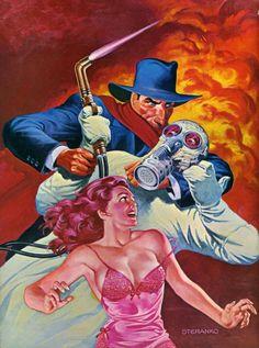Jim Steranko's cover art for The Death Giver Comic Book Artists, Comic Artist, Comic Books Art, Pulp Magazine, Magazine Art, Magazine Covers, Radios, Hero Crafts, Superman