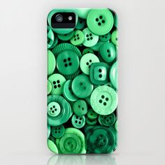 Button Green iPhone & iPod Case by Alice Gosling #society6