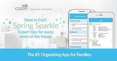 Get the Cozi app to get a list of homemade cleaners for any room of the house @cozifamily #promotion