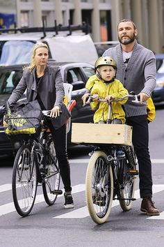 Family Bike Ride    Parents Naomi Watts and Liev Schreiber were spotted taking their two boys Alexander and Samuel for a bike ride in Lower Manhattan.