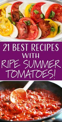 21 Best Recipes With Ripe Summer Tomatoes Salat iDeen 🥗 Tomato Sauce Recipe, Sauce Recipes, Vegetable Dishes, Vegetable Recipes, Summer Tomato, Simply Recipes, Nutrition, Gazpacho, Casserole Dishes