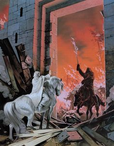 Gandalf and the Witch King of Angmar