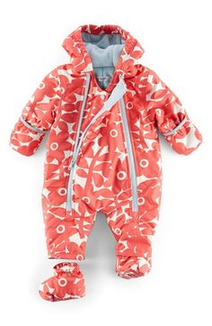 8a0c99067a Mini Boden Floral Print Snowsuit (Baby Girls)