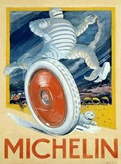 "O'Galop created the drawing of the logo on a rejected poster for a Munich brewery that read nunc est bibendum (""now it is time to drink"" in Latin), and never removed the wording. Rumor has it that when the poster made its way to a race in Paris, driver Léon Théry, not knowing the translation of the phrase, shouted, ""Voila Bibendum, vive Bibendum!"""