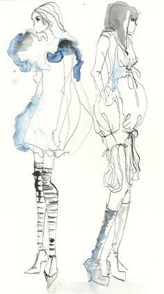 ILLUSTRATIONS : Leonie Barth  Illustration, Fashion Illustration, Mode, Zeichnung, Aquarell, Bleistift, Mode, Women, Girls, Strichzeichnung.