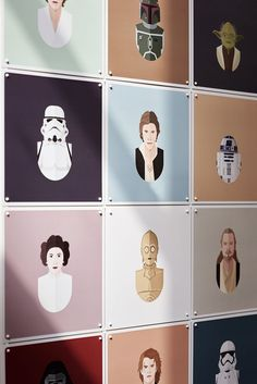 Create a modern wall decoration for your interior with the new, graphic IXXI x Star Wars collection. Who's your favourite illustrated hero? The light or the dark side!