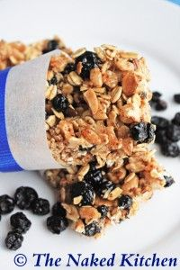 Been trying different homemade granola bars for the kids lunches.. These No Bake Blueberry Bars are the next on my list!