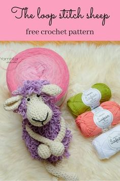 crochet toys and dolls Looking for a fun and cute crochet sheep pattern? The loop stitch sheep is created with the loop stitch and creates an unique and fund end result. Crochet Sheep, Cute Crochet, Crochet Animals, Crochet Baby, Beautiful Crochet, Crochet Stitches Patterns, Crochet Patterns Amigurumi, Crochet Designs, Crochet Dolls