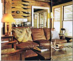 Living room inspiration. Rustic coastal décor.
