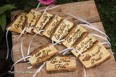 Love is Patient Square Set of Ten 1.Cor.13 Rustic by HomenStead, $108.00