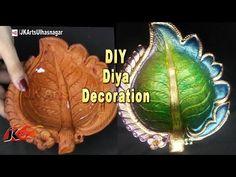 YouTube Diwali Diya, Diwali Craft, Cd Crafts, Arts And Crafts, Name Plates For Home, Rangoli Designs Diwali, Blue Pottery, Crochet Earrings, Workshop